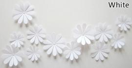 3D bloemen wit