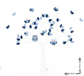 Muursticker boom op maat