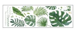 Muursticker jungle decoratieve palmbladen groen