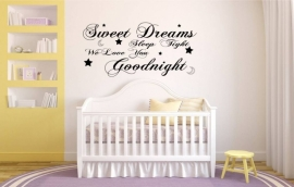 Quote Sweet Dreams Kinderkamer
