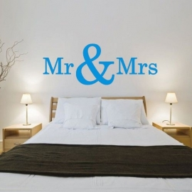 Muursticker: Mr & Mrs
