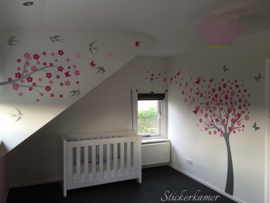Muursticker bloesemboom XXL (kies je eigen kleur)