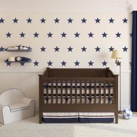 Muursticker sterren print / patroon kinderkamer