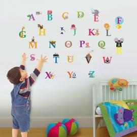 Alphabet letters met met beesten / dieren uit de dierentuin