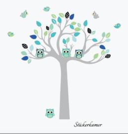 Muursticker boom cuddle tree
