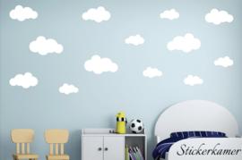 Muursticker wolken XL babykamer - kinderkamer