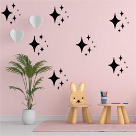 Muursticker sterren  (2) print / patroon kinderkamer /babykamer