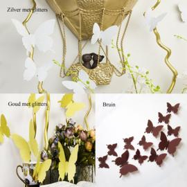 3d vlinders 3 + 1 gratis (kies je favoriete kleuren)