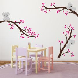 Branches Sticker mural avec salle de koalas fille