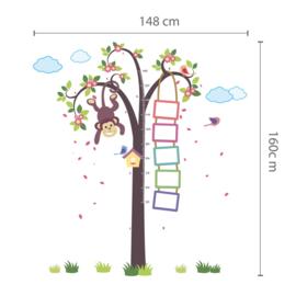 Muursticker boom aap kinderkamer