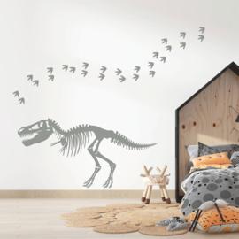 Muursticker dinosaurus skelet kinderkamer