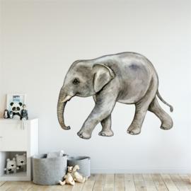 Muursticker baby olifant