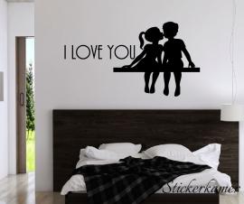 I love you  slaapkamer muurstekst en koppel