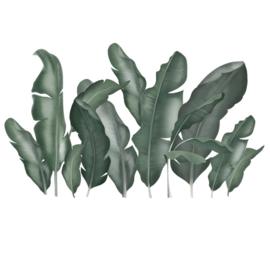 Muursticker planten  bananenplant tropisch XL