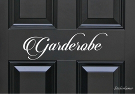 Decoratiesticker garderobe