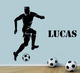 Muursticker voetbal stoere jongenskamer