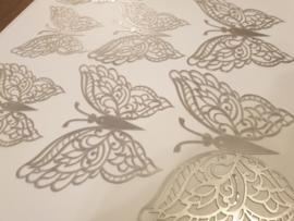 12 stuks zilveren 3d vlinders muurdecoratie (8)