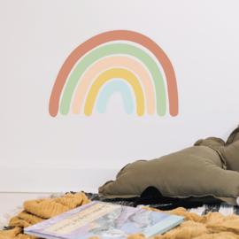 Muursticker regenboog kinderkamer retro 56cm x 38cm