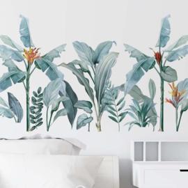 Muursticker tropische jungle planten