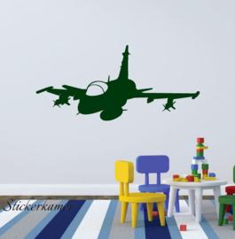 Muursticker stoere straaljager vliegtuig kinderkamer