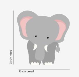 Muursticker olifant XL babykamer