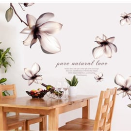 Bloemen muursticker sierlijk