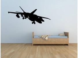 Stoere straaljager vliegtuig