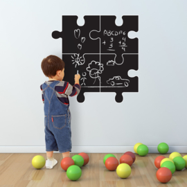 Muursticker puzzel kinderkamer krijtbord - blackboard