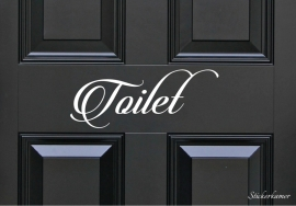 Decoratiesticker toilet