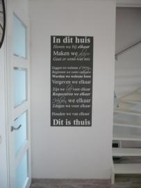 Huisregels muursticker: In dit huis.... (Groot)