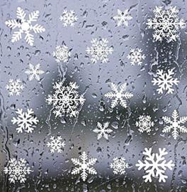 Raamsticker 54 sneeuwvlokken statisch hechtend