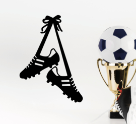 Muursticker voetbal schoenen