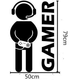 Muursticker gamer jongenskamer + eigen naam