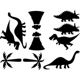 Muursticker dinosaurus kinderkamer