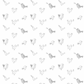 Behang - vogel motief / patroon
