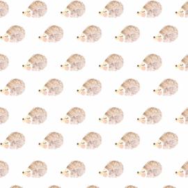 Behang - schattig egel motief / patroon