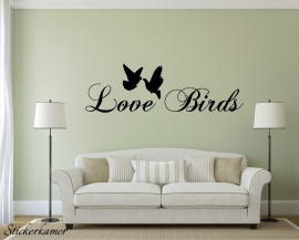 Love birds muursticker tekst