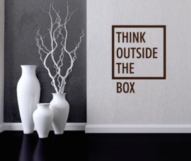 Muursticker think outside the box