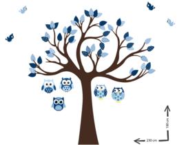 Muursticker boom op maat Bennekum