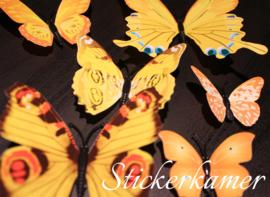 Mega pack kleurrijke 3d vlinders - 108 stuks