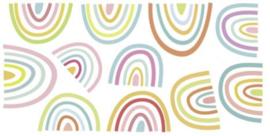 Muursticker regenboog mix kinderkamer