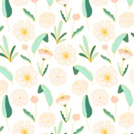 Behang - bloemen motief / patroon