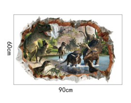Muursticker dinosaurus kinderkamer - jongen - stoer