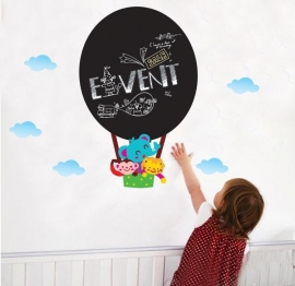 Muursticker luchtballon krijtbord kinderkamer