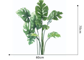 Muursticker tropische jungle palmbladen