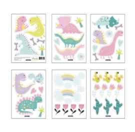 Muursticker dinosaurus mini stickers kinderkamer / babykamer