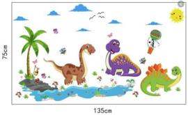 Muursticker kinderkamer dinosaurus dino's stoer jongen
