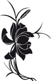 Muursticker Aziatische bloem