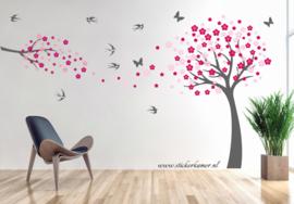 Muursticker bloesemboom en tak