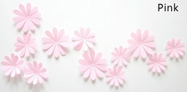 3D bloemen roze